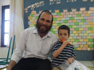 Shalom with his Rebbe.