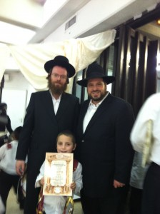 Yitzi with his Rebbe and me.
